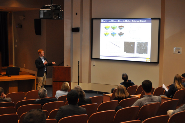 UC San Diego Professor David Fenning is also doing perovskite solar cell research, and he describes the affect of non-stoichiometry at the nanoscale