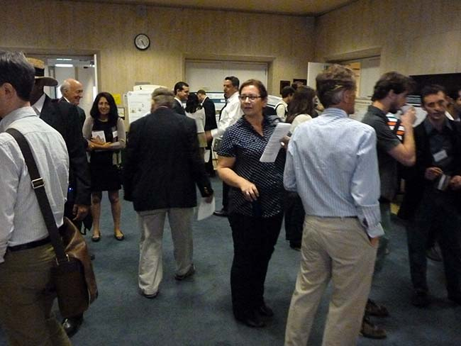 The poster sessions are always popular, and this one was no exception.