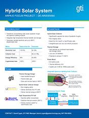 Hybrid Solar System ARPA-E FOCUS PROJECT | DE-AR0000464 David Cygan, GTI R&D Manager