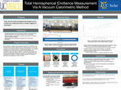 Total Hemispherical Emittance Measurement Via A Vacuum Calorimetric Method